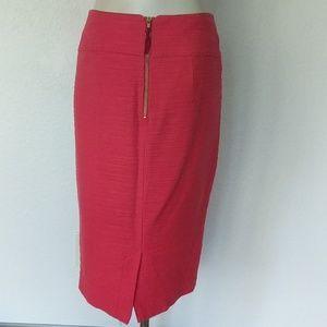 Moulinette Soeurs Skirts - Anthropologie Pink textured pencil skirt